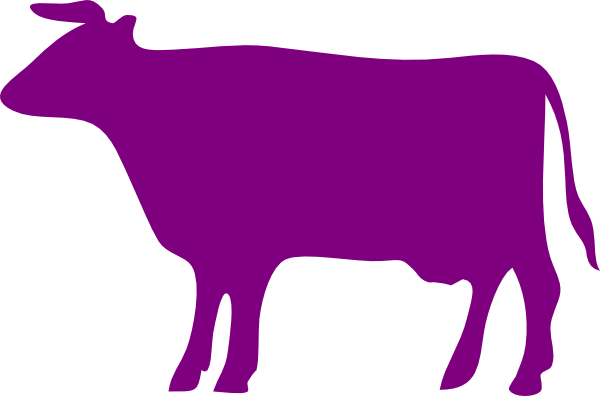 clipart royalty free library Purple Cow Clip Art at Clker