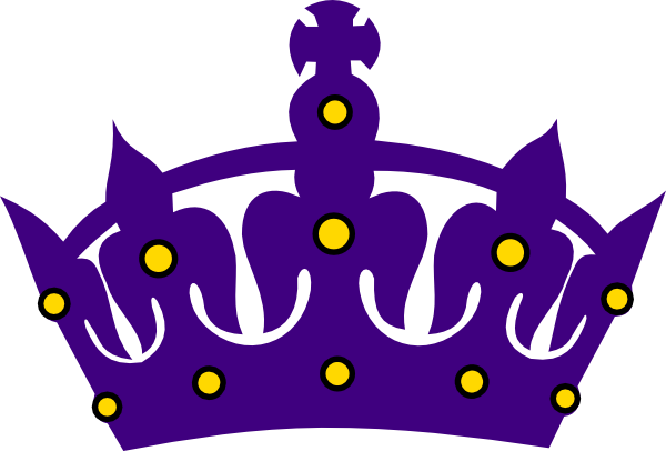 clipart free stock Purple Crown With Gold Clip Art at Clker