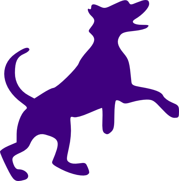 svg freeuse stock Purple Dog Sillohette Clip Art at Clker