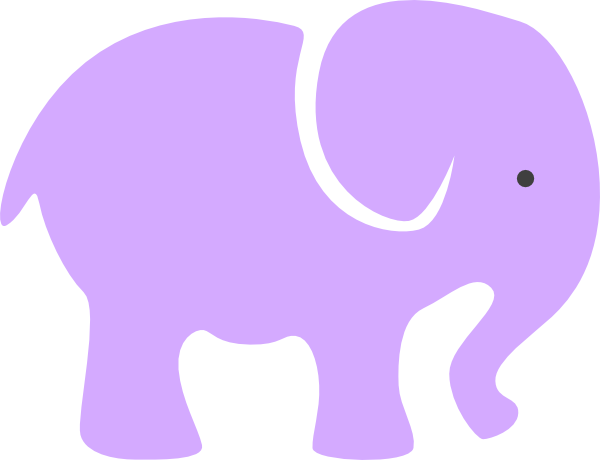 picture transparent stock Purple Elephant Clip Art at Clker