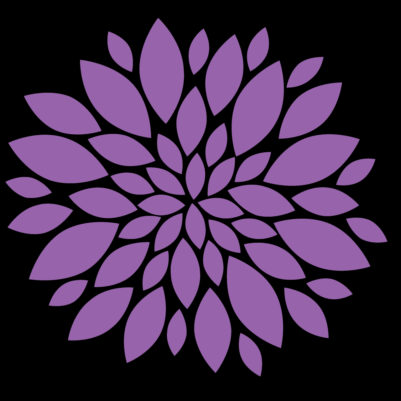 clip art transparent Transparent Purple Flower PNG
