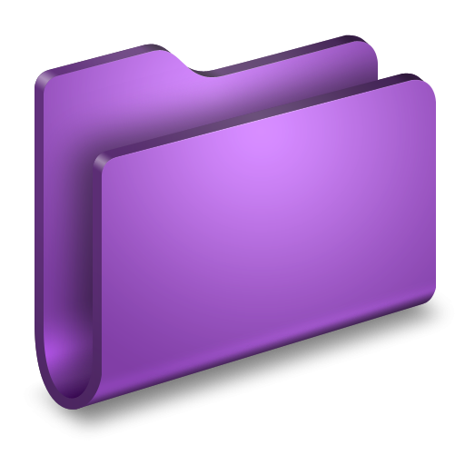 graphic library purple folder clipart #63257569