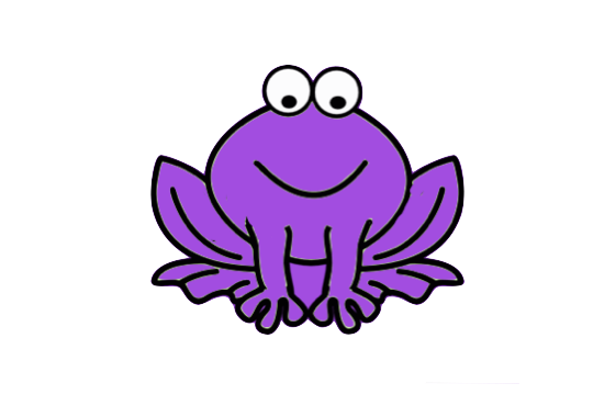 jpg free library Purple Frog Clipart