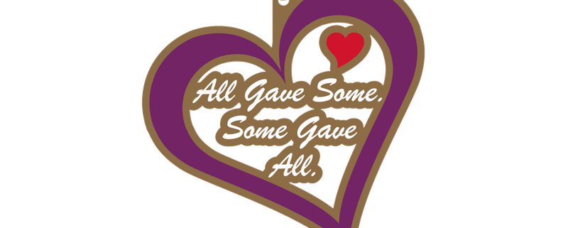 svg royalty free stock purple heart medal clipart #64703168