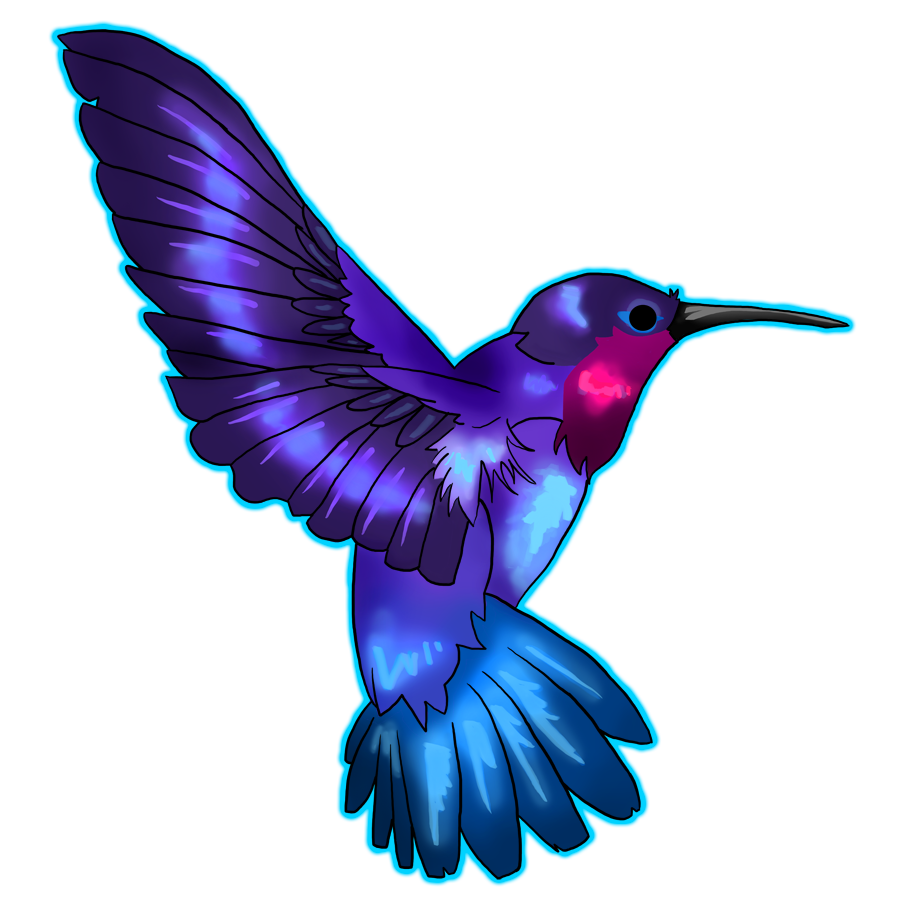 png free download purple hummingbird clipart #64952983