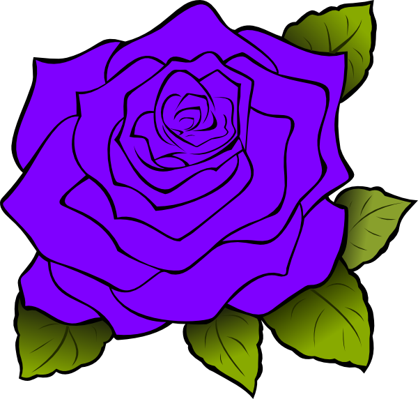 svg freeuse library Purple Rose Clip Art at Clker