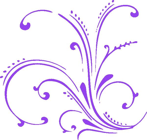 clip transparent Purple Butterfly Scroll Clip Art at Clker