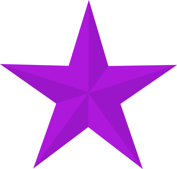 banner black and white library Purple Star Clip Art at Clker