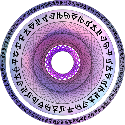 banner freeuse library Purple magic circle