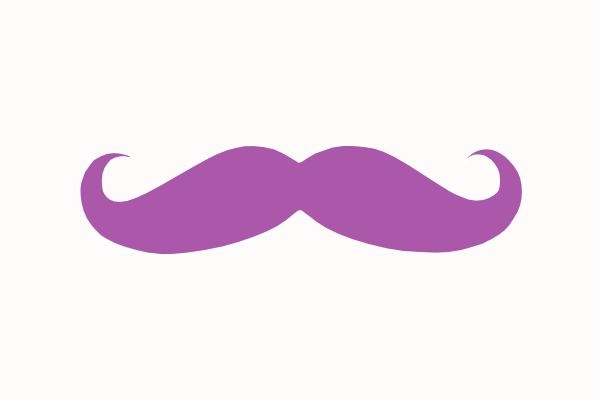 vector freeuse stock Purple Mustache Clip Art at Clker