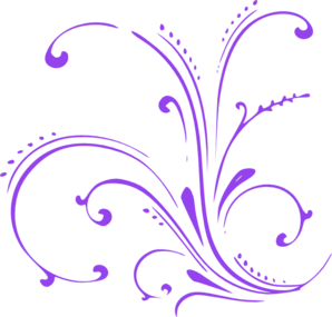 free Purple Butterfly Scroll Clip Art at Clker