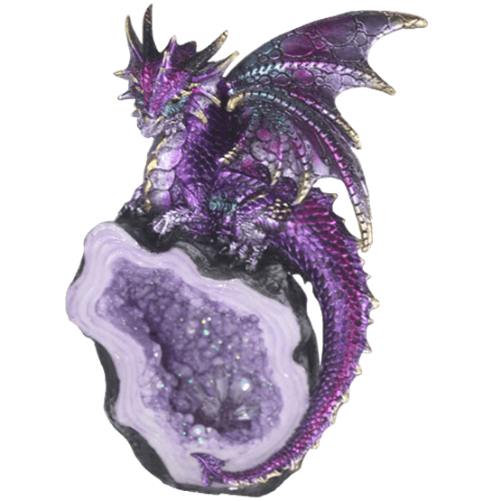 jpg library download Elegant Purple Dragon Crystal Statue