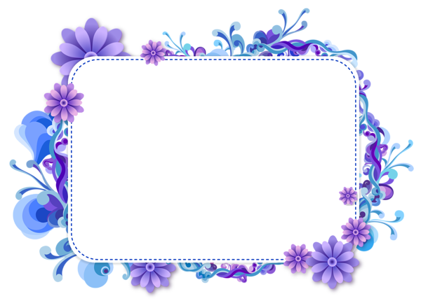 banner Blue and Purple Vector Frame