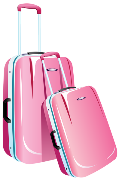 clipart black and white download Pink Travel Bags PNG Clipart Image