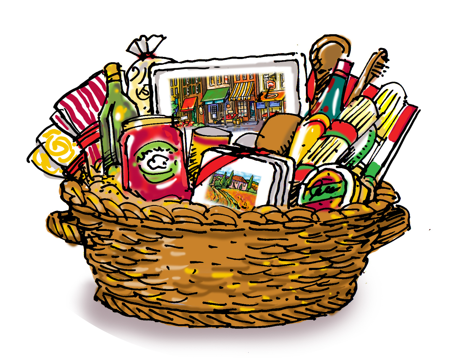 graphic black and white download Put in hamper clipart. You could win a.