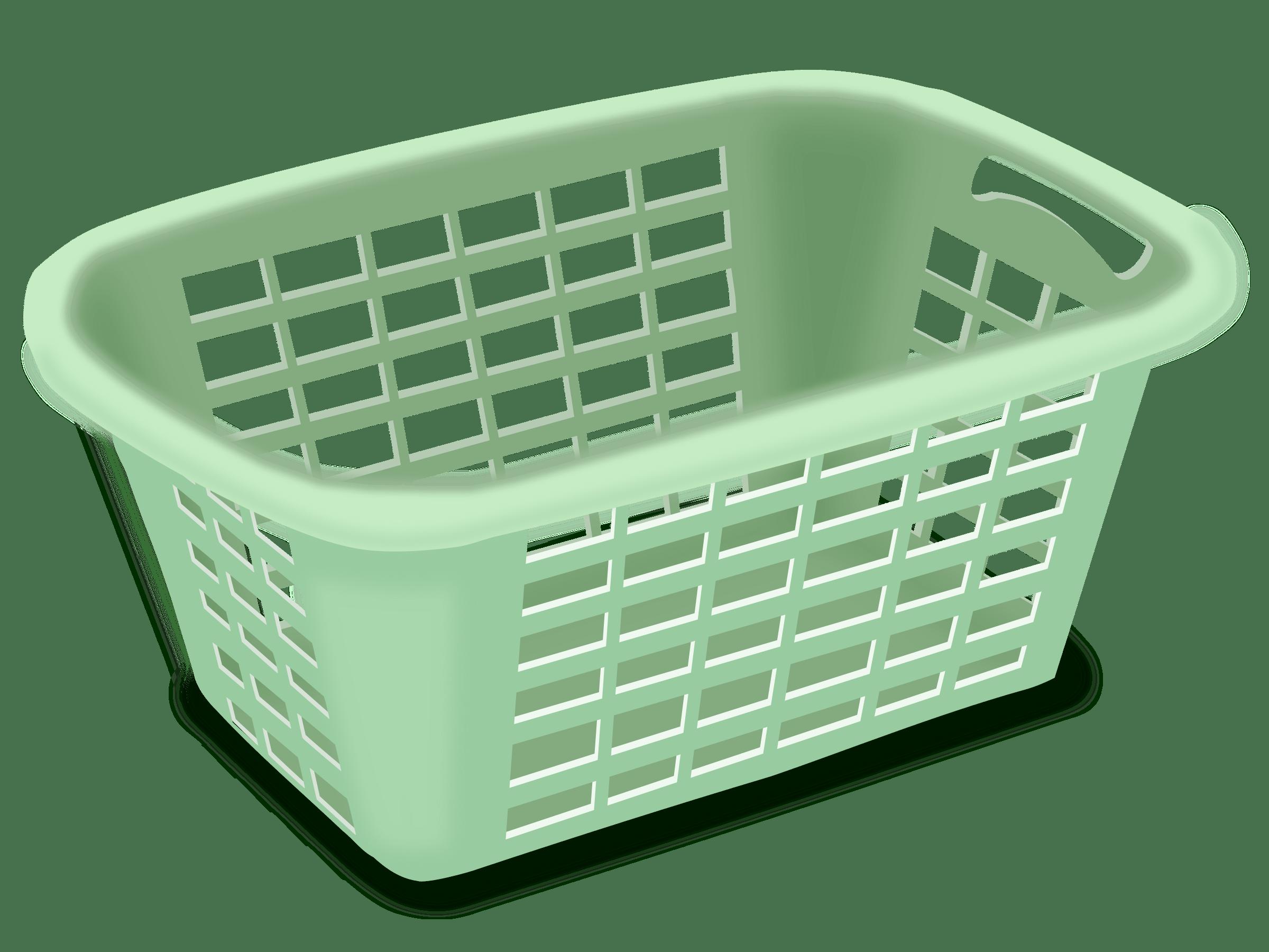 svg transparent download Put in hamper clipart. Plastic laundry basket clip.