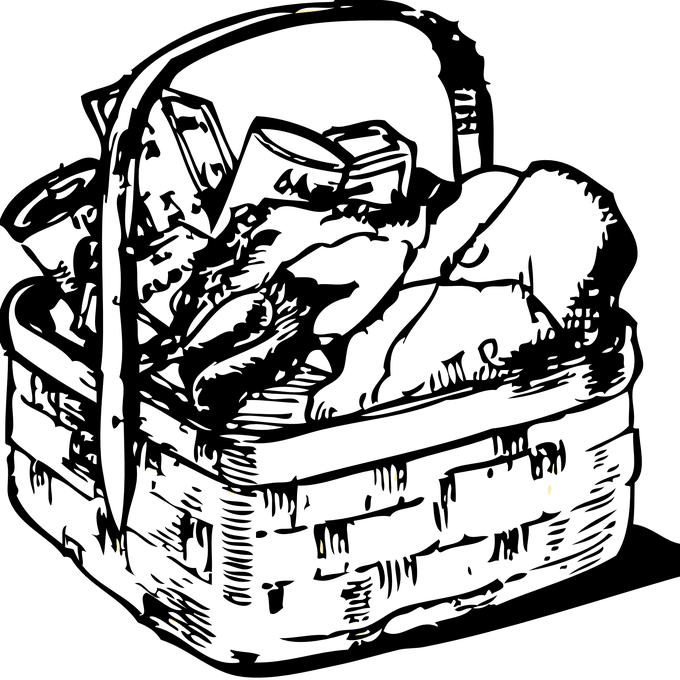 clip art black and white stock Free Drawing Of Laundry Basket From The Category Building