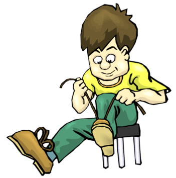 svg stock put on shoes clipart #67349907