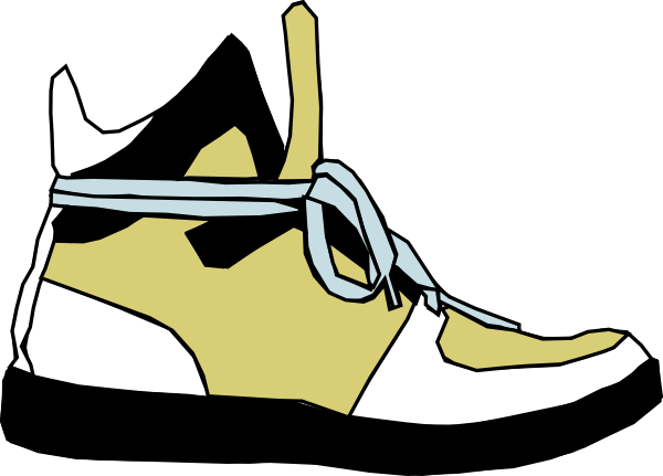 svg stock Put on shoes panda. Sneakers clipart svg.