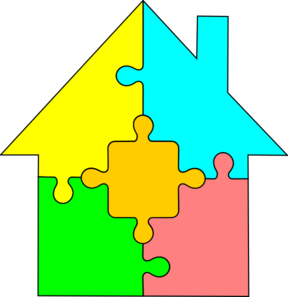 freeuse library Puzzle clipart. House clip art at.