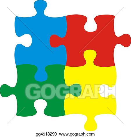 clipart Stock illustration four illustrations. Puzzles clipart.