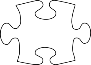 royalty free stock Jigsaw white puzzle piece. Puzzles clipart proportion