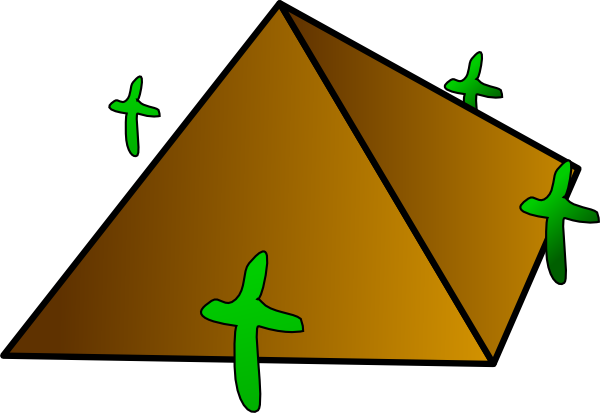 picture royalty free library Cartoon Pyramid Clipart