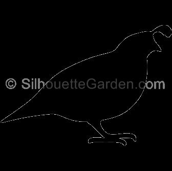 library Silhouette clip art download. Quail clipart.
