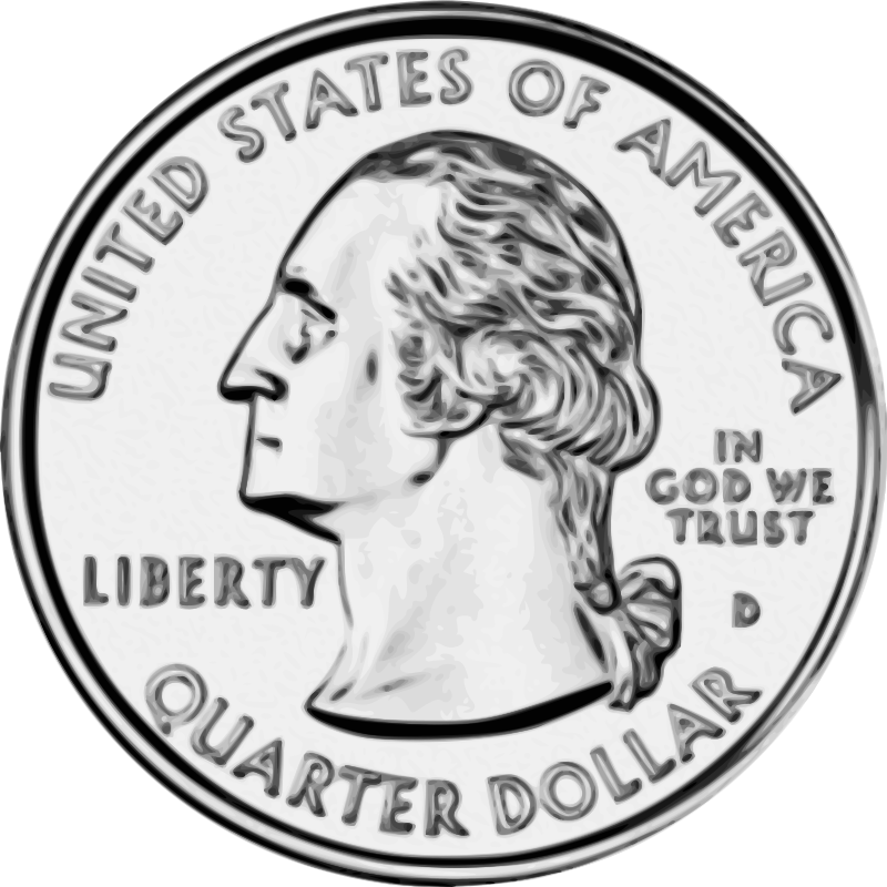 graphic Quarter clipart.  collection of a.