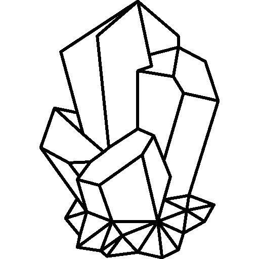 clipart black and white library quartz Icon