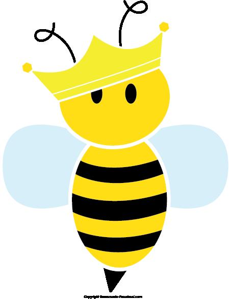 jpg transparent library Cute Queen Bee Clipart
