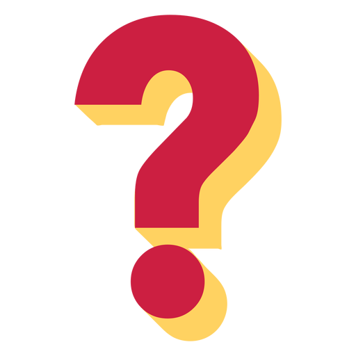 banner free download Red Yellow Question Mark transparent PNG