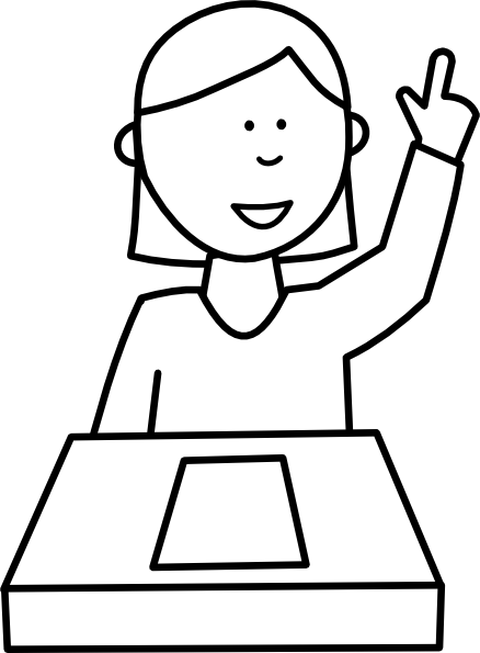 picture Student Asking A Question Clip Art at Clker
