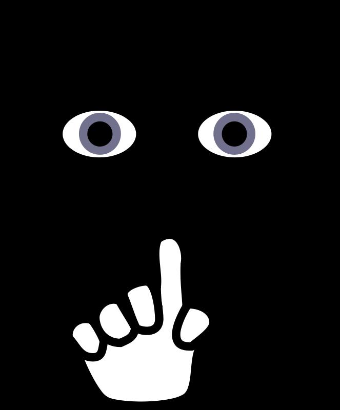 clip art freeuse download Whisper clipart indoor voice. Quiet clip art panda