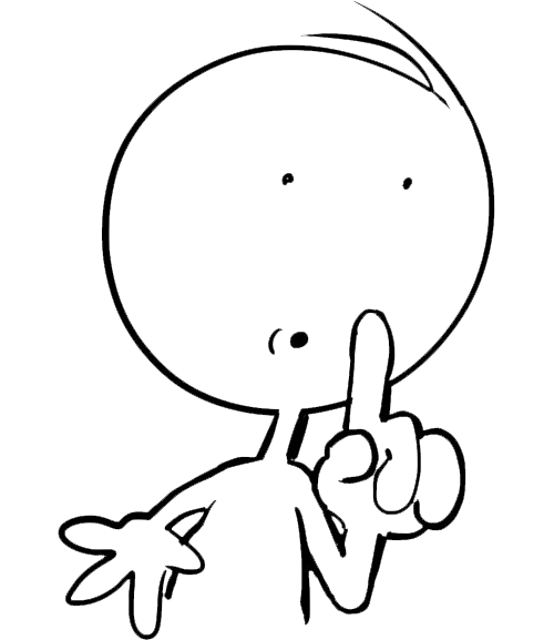 clip art free download Quiet clipart black and white. Silence free on dumielauxepices