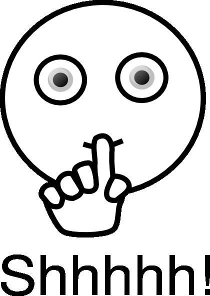 clip transparent Quiet clipart black and white. Mouth clip art panda