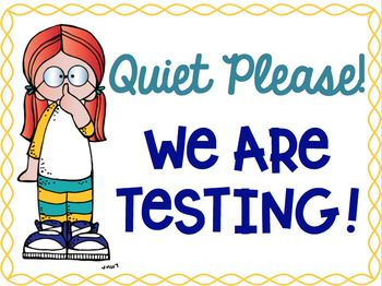 image library stock Quiet testing clipart. Pin on test prep