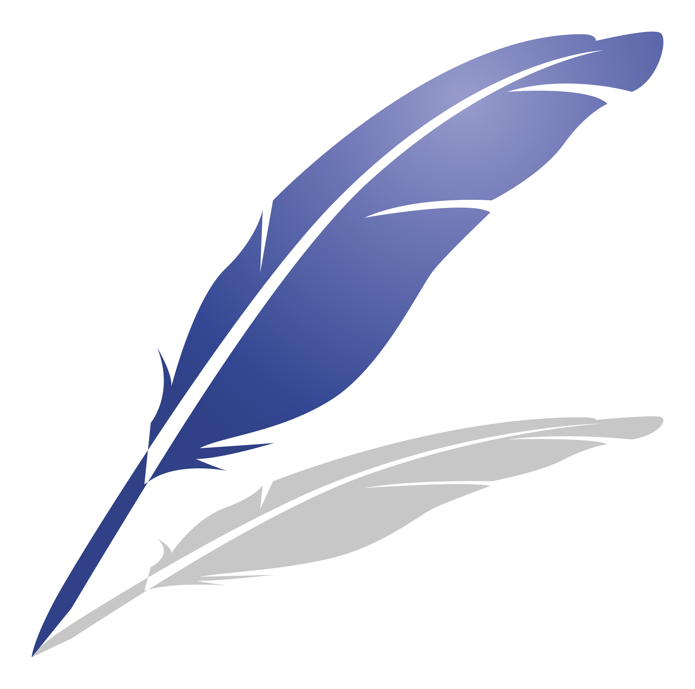 image black and white library Quill clipart. Blue feather of pen.