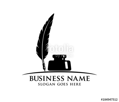 clip art library stock Quill vector. Ink and fountain pen.