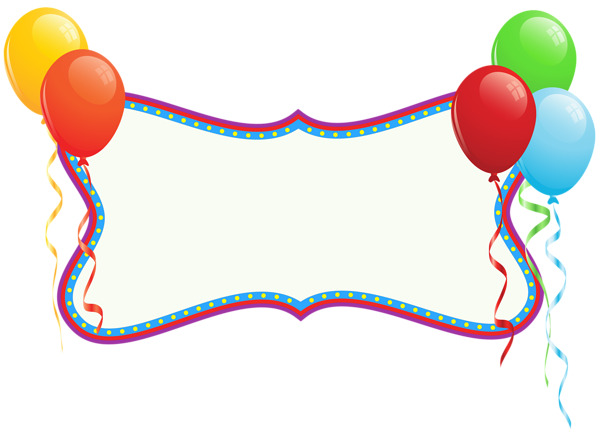 clip art download Birthday Holiday Banner with Balloons PNG Clipart