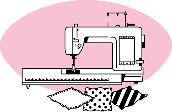 picture transparent download Sewing machine free on. Quilting clipart.