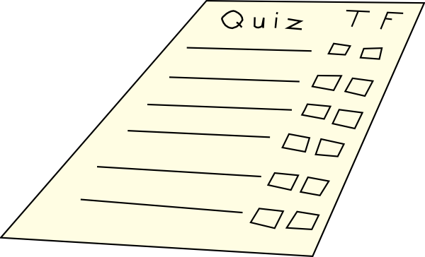 freeuse library Clip art at clker. Quiz clipart