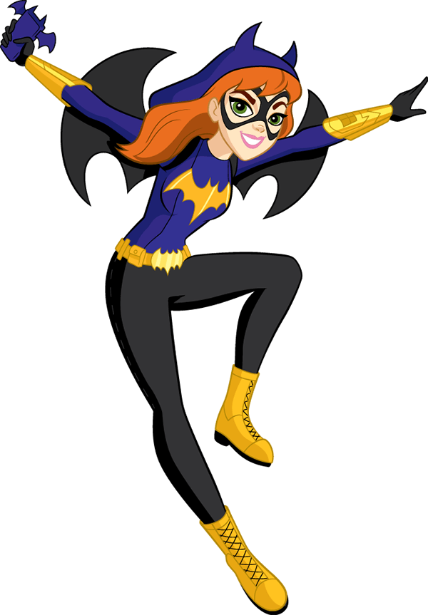 vector black and white library Batgirl
