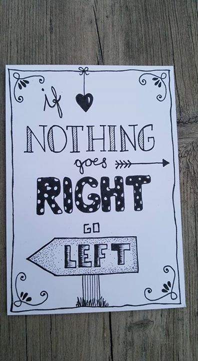 banner black and white Quotes drawing. If nothing goes right