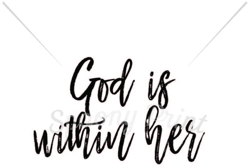 clipart stock Quote svg god be within her. Free is she will