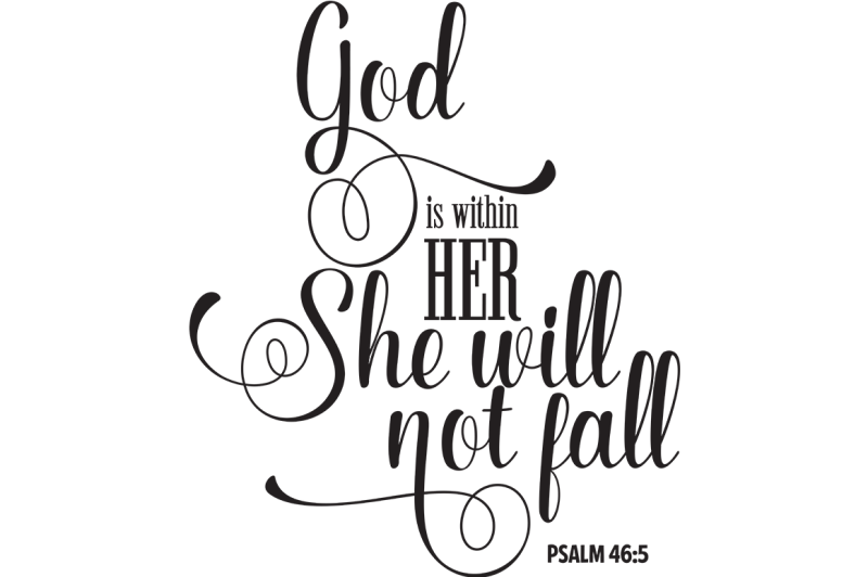clip art stock Quote svg god be within her. Free is she will