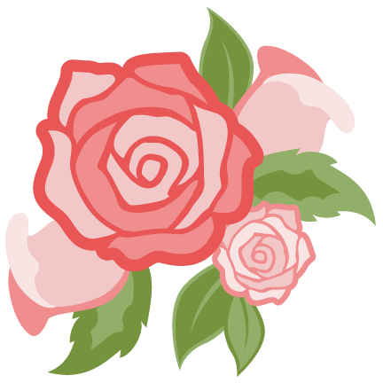 graphic library library Belle svg rose silhouette. Daily freebie miss kate