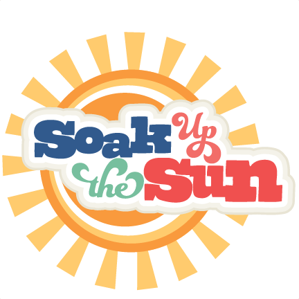 vector download Soak up the sun. Svg cuttables quotes