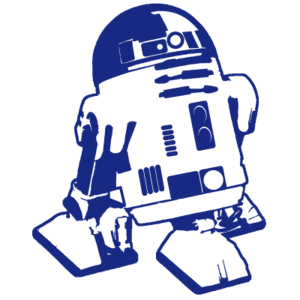 free library R d silhouette at. R2d2 clipart.
