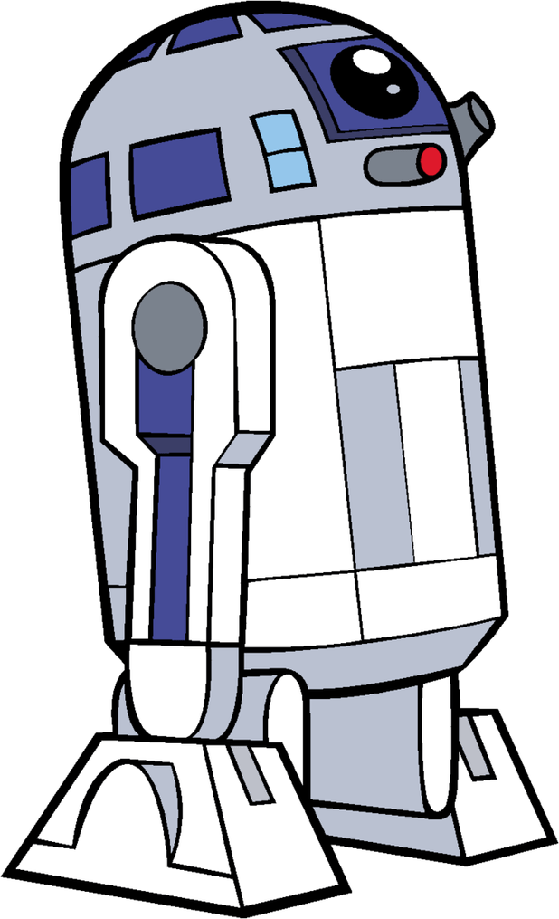 black and white stock R2d2 clipart. R d cartoon images.